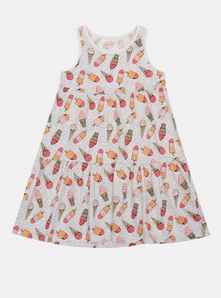 Bílo-růžové holčičí vzorované šaty name it