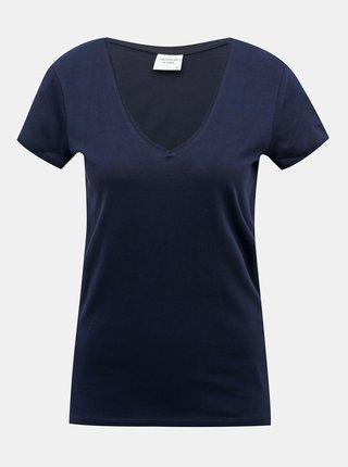 Tmavomodré basic tričko Jacqueline de Yong Chicago