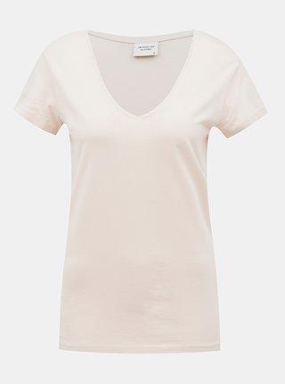 Svetloružové basic tričko Jacqueline de Yong Chicago
