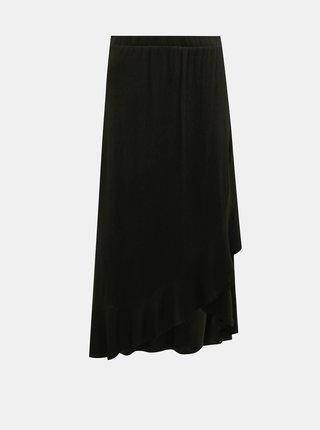 Čierna zavinovacia maxi sukňa Jacqueline de Yong Fantorini