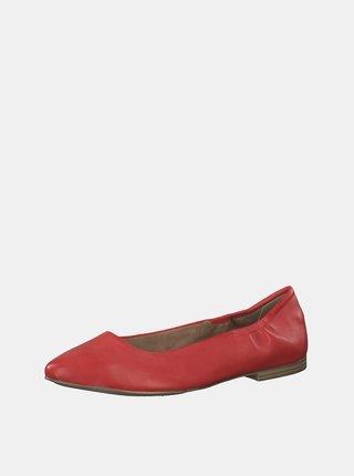 Červené kožené baleríny s.Oliver