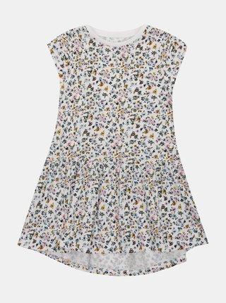 Biele dievčenské vzorované šaty name it