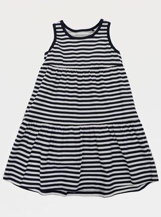 Tmavomodré dievčenské pruhované šaty name it
