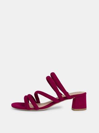 Vínové sandálky v semišové úpravě Tamaris