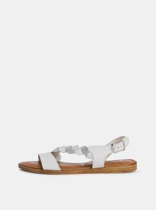 Biele kožené sandále Tamaris