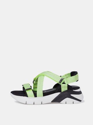 Zelené sandály na platformě Tamaris