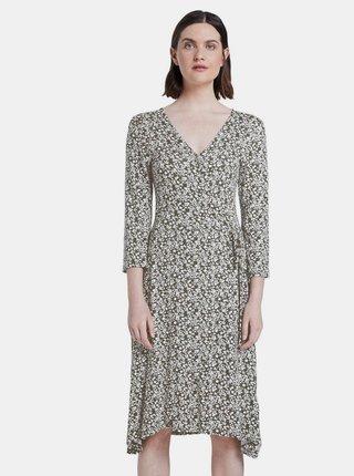 Kaki dámske kvetované šaty Tom Tailor