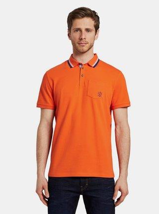 Oranžové pánské polo tričko Tom Tailor