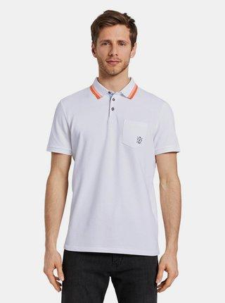 Tricouri polo pentru barbati Tom Tailor - alb