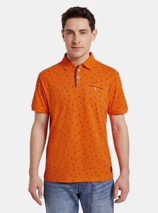 Oranžová pánska vzorovaná polokošeľa Tom Tailor