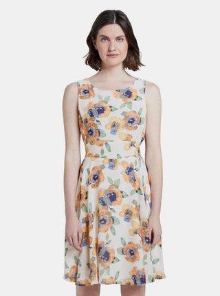 Biele dámske kvetované šaty Tom Tailor