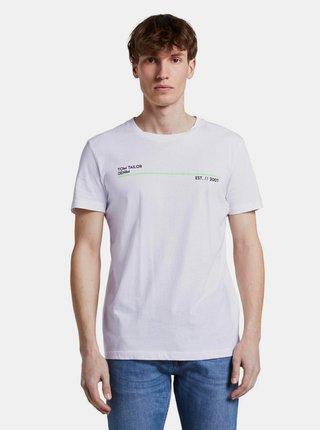Bílé pánské tričko Tom Tailor Denim