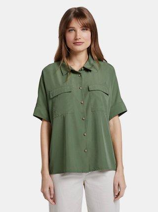 Zelená dámska košeľa Tom Tailor Denim