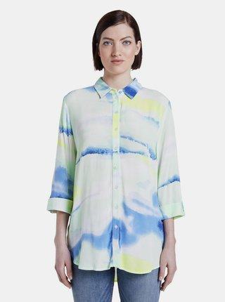 Modro-biela dámska vzorovaná košeľa Tom Tailor Denim