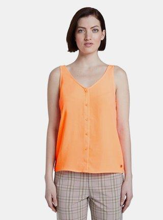 Oranžový dámsky top Tom Tailor Denim