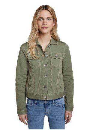 Khaki dámská džínová bunda Tom Tailor