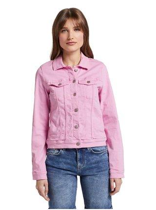 Růžová dámská džínová bunda Tom Tailor Denim