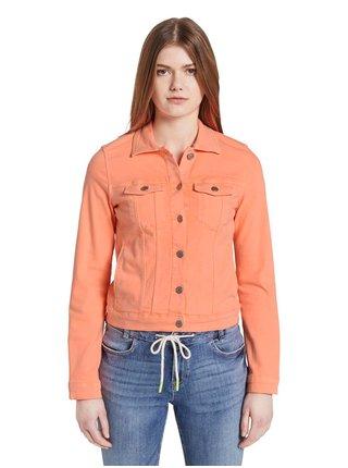 Oranžová dámska rifľová bunda Tom Tailor Denim