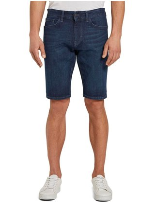 Tmavě modré pánské džínové kraťasy Tom Tailor