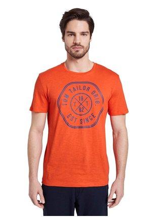 Oranžové pánské tričko Tom Tailor