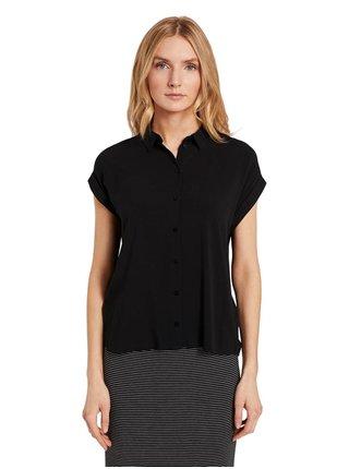 Čierna dámska košeľa Tom Tailor