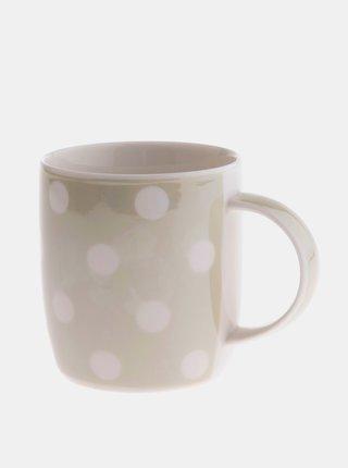 Šedý porcelánový hrnček Dakls 360 ml
