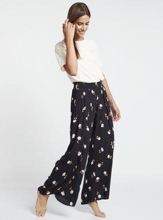 Čierne dámske kvetované nohavice Billabong