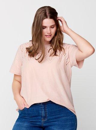 Růžové tričko Zizzi
