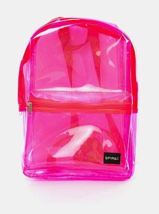 Růžový transparentní batoh Spiral