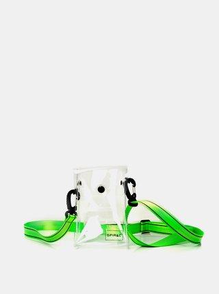 Zelená transparentná crossbody taška Spiral