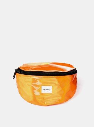 Oranžová lesklá ledvinka Spiral