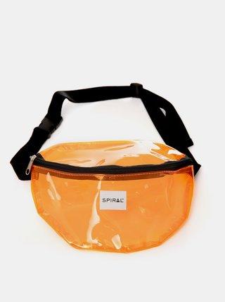 Oranžová transparentní ledvinka Spiral