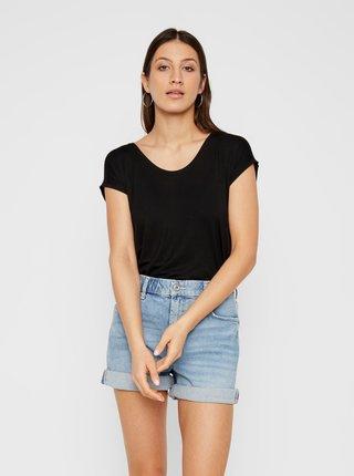 Čierne basic tričko Pieces Billo