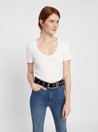 Biele basic tričko Pieces Kaitlin