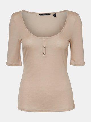 Béžové basic tričko VERO MODA Tammie