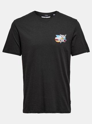 Černé tričko ONLY & SONS Topgun