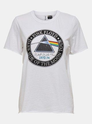 Biele tričko ONLY Pink Floyd