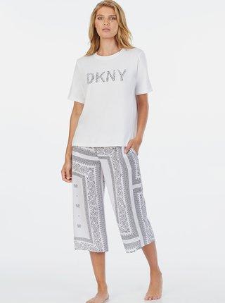 Bílé vzorované pyžamo DKNY