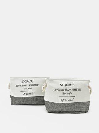 Sada dvou košů v šedo-bílé barvě Dakls