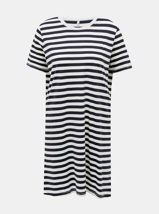 Bílo-modré pruhované basic šaty ONLY June