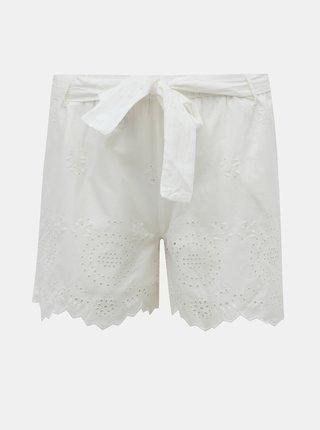 Bílé kraťasy s madeirou ONLY Sherey