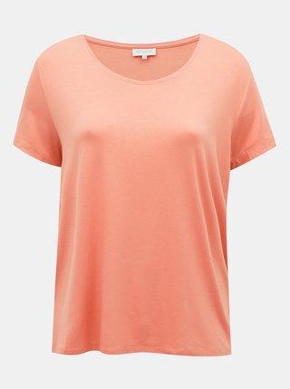 Růžové basic tričko ONLY CARMAKOMA