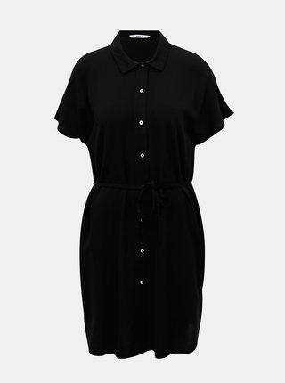 Čierne košeľové šaty ONLY Nova