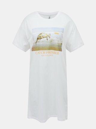 Bílé šaty ONLY Freya