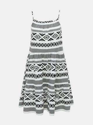 Čierno-biele vzorované šaty ONLY Lucca