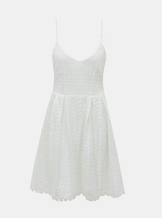 Bílé krajkové šaty ONLY Helena