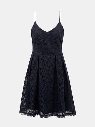 Tmavě modré krajkové šaty ONLY Helena