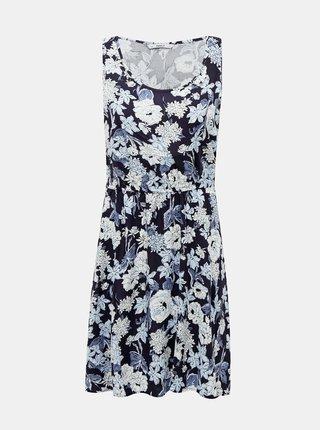 Modré kvetované šaty ONLY Nova
