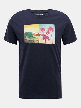 Tmavomodré tričko Jack & Jones Suite