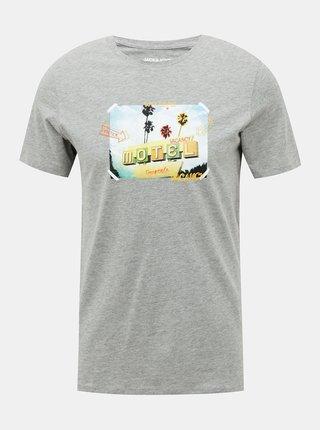 Šedé tričko Jack & Jones Luciano